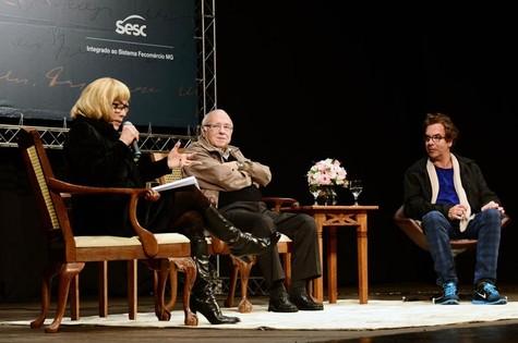 Arlete Salles, Luís Fernando Veríssimo e Marcelo Andrade (Foto:  Aelson Faria Amaral)