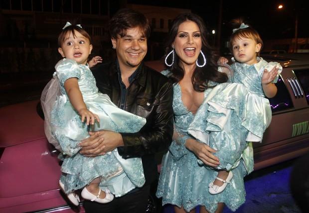 Aniversário de Maya e Kiara, filhas de Leandro e Natália Guimarães  (Foto: Celso Tavares / Ego)