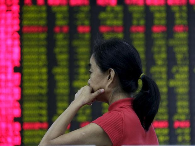 A Bolsa de Valores de Xangai, na China, encerrou o pregão desta quarta-feira (26) em queda de 1,27% (Foto: Reuters)