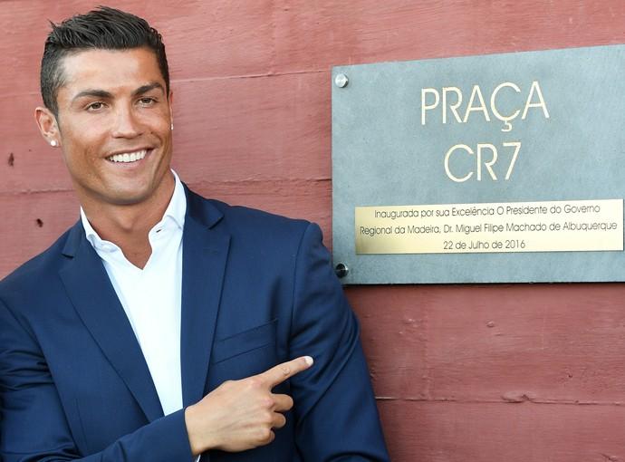 Cristiano Ronaldo inauguração hotel Ilha da Madeira (Foto: Getty Images)