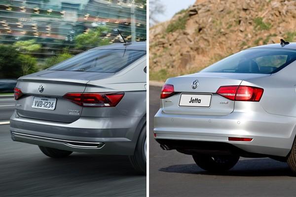 Volkswagen Virtus e Volkswagen Jetta  (Foto: Autoesporte)