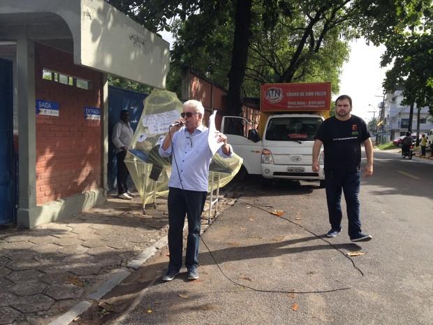 Presidente do Sindicato dos Servidores do Detran (Sindetran-PE),  Alexandre Bulhões (Foto: Ana Regina/ TV Globo)