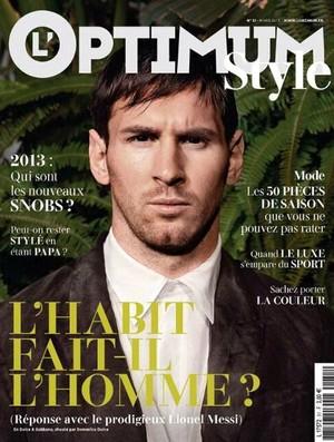 Messi barcelona capa da revista francesa Optimun Style (Foto: Reprodução / Facebook)