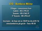 Começa inscrição no edital de seleção para CFO dos Bombeiros na Paraíba
