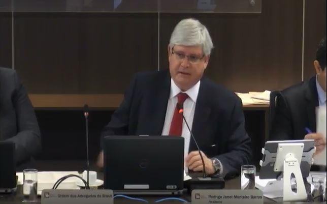 Procurador-geral da República Rodrigo Janot durante 3ª Sessão Ordinária  (Foto: Reprodução/ CNMP )