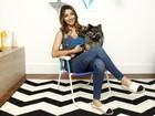 Carolina Oliveira ensina a customizar cadeira de praia 'com personalidade'