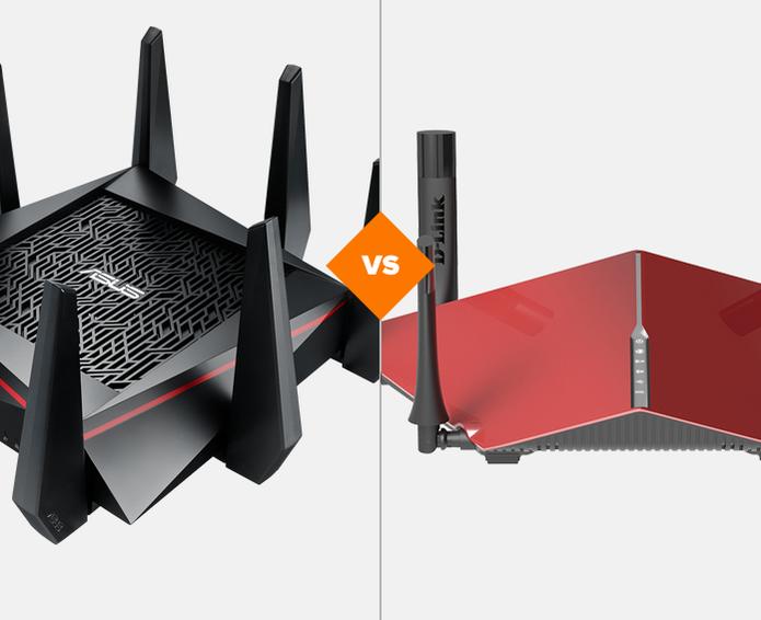 ASUS RT AC5300 ou D-Link AC3200: qual super roteador leva a melhor no comparativo do Techtudo? (Foto: Arte/TechTudo)