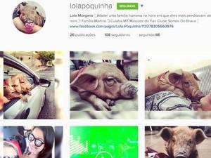 Lola Morgana tem seguidores em rede social. (Foto: Reprodução)