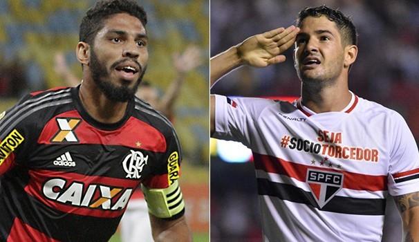 Rubro-negro enfrenta o tricolor paulista. TV Sergipe exibe ao vivo (Foto: Reprodução GE)