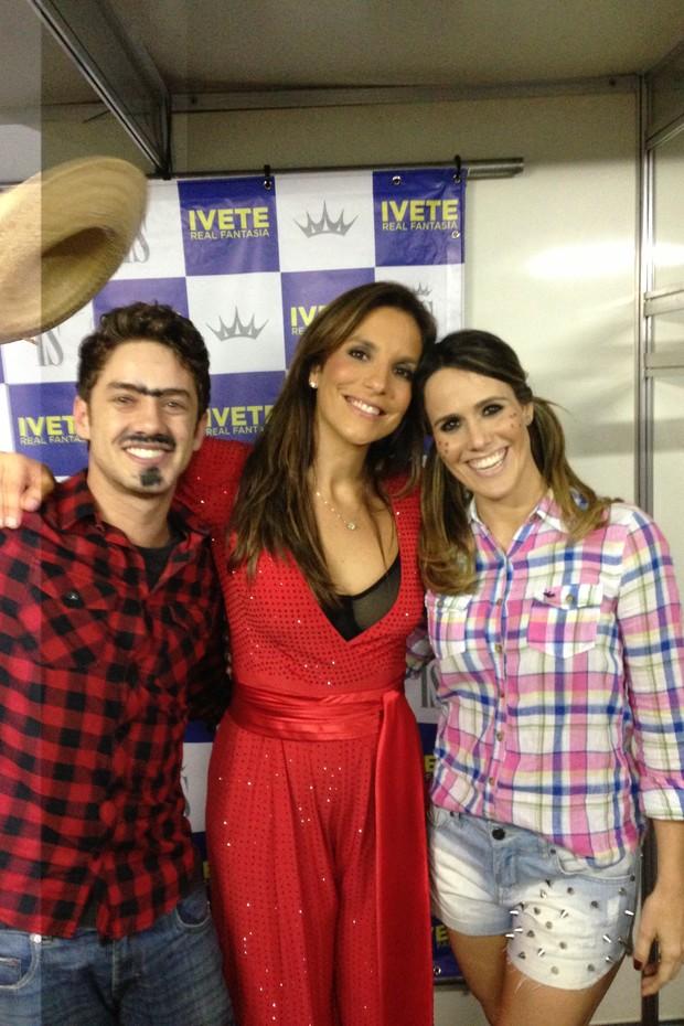 Leonardo Migiorim, Fernanda Pontes e Ivete Sangalo (Foto: Divulgação)