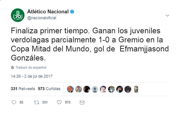 """BLOG: Efmamjjasond? Nome de jogador colombiano """"homenageia"""" meses do ano"""