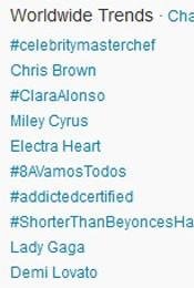 Trending Topics no Mundo às 17h15 (Foto: Reprodução/Twitter.com)
