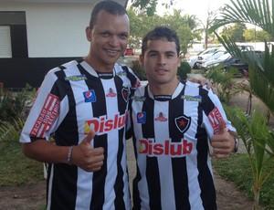 Warley (atacante) e Doda (meia) do Botafogo-PB (Foto: Divulgação / Botafogo-PB)