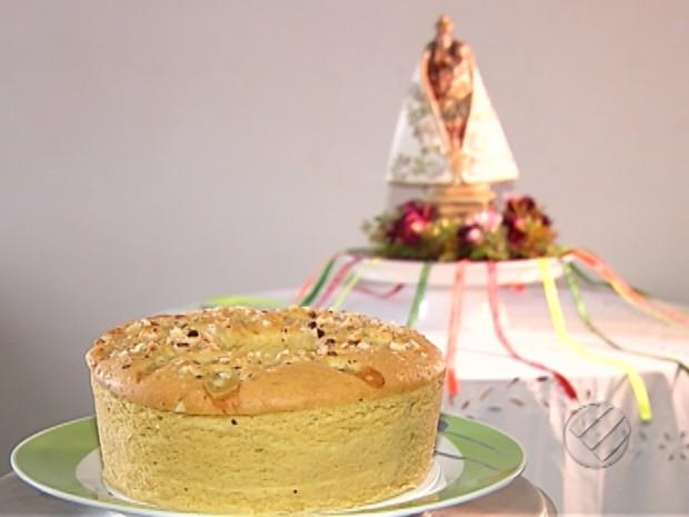 bolo de cupuaçu com castanha do Pará (Foto: Reprodução/TV Liberal)