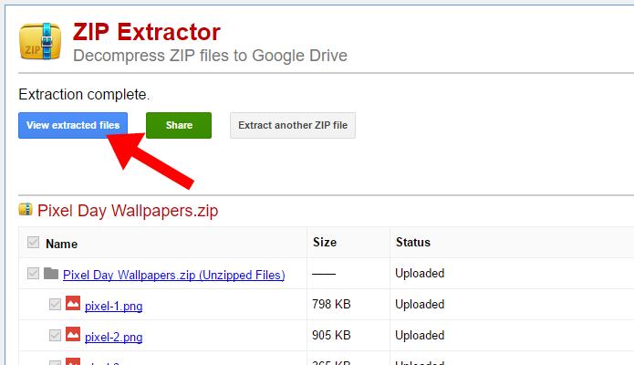 Acesse os arquivos descompactados no Google Drive (Foto: Reprodução/Paulo Alves)