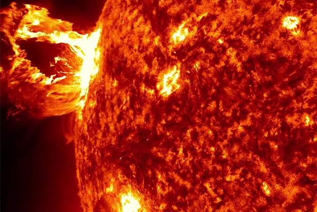 Explosão solar em imagem divulgada pela Nasa (Foto: NASA's Goddard Space Flight Center/SDO)