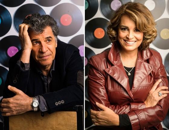 Paulo Betti e Suzy Rêgo vivem par romântico na novela Rock Story (Foto: G. Show)
