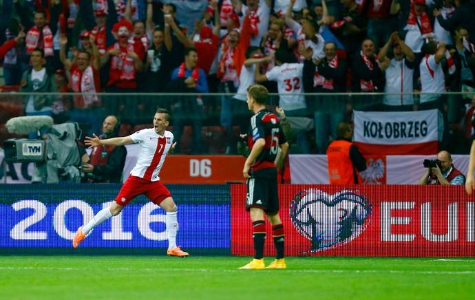 Alemanha x Polônia - Arkadiusz Milik (Foto: Reuters)