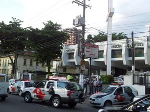 Missa de 1 mês de morte de policial foi neste domingo (Foto: Anna Gabriela Ribeiro/G1)