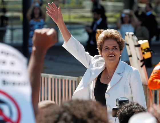 A presidente Dilma ao deixar a presidência (Foto:  Paulo Whitaker/REUTERS)
