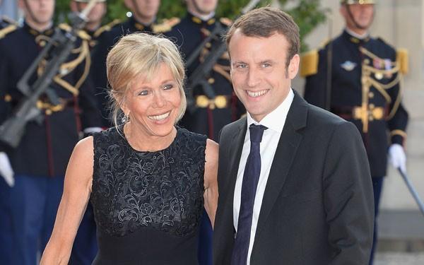Emmanuel Macron e Brigitte (Foto: Getty Images)