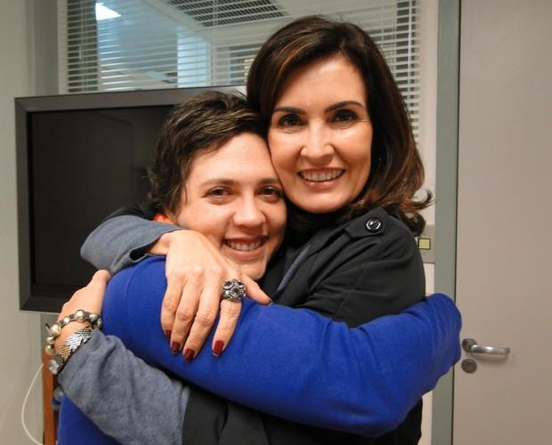 Fátima e Ana com choro (Foto: Encontro com Fátima Bernardes/TV Globo)