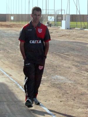 Léo Condé, técnico do CRB (Foto: Denison Roma / GloboEsporte.com)
