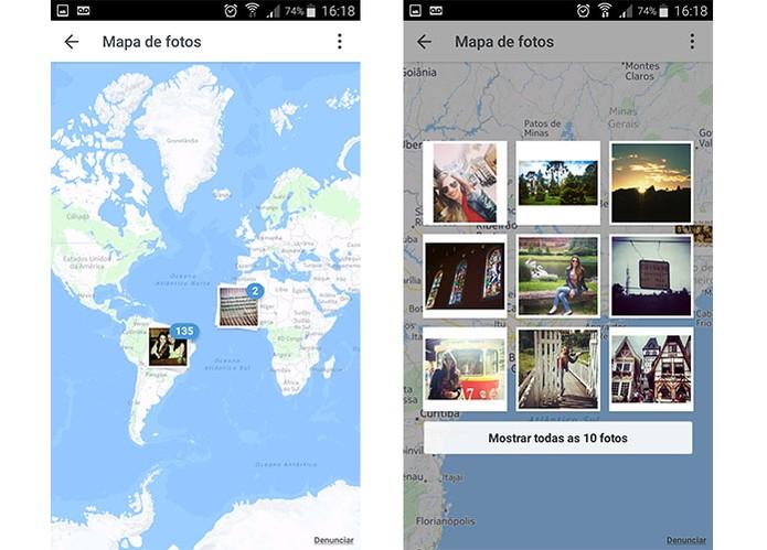 Mapa de Fotos está sendo removido de perfis do Instagram (Foto: Reprodução/Barbara Mannara)