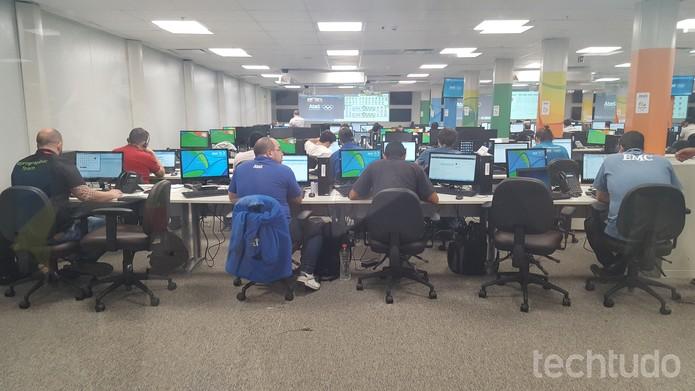 Centro de Operações Tecnológicas funcionará 24 horas por dia durante as Olimpíadas (Foto: Aline Batista/TechTudo)