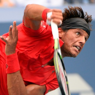 Feijão contra Djokovic no US Open (Foto: Reuters)