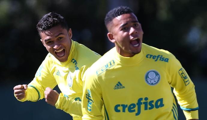 Erik e Gabriel Jesus Palmeiras (Foto: César Greco / Ag. Palmeiras / Divulgação)