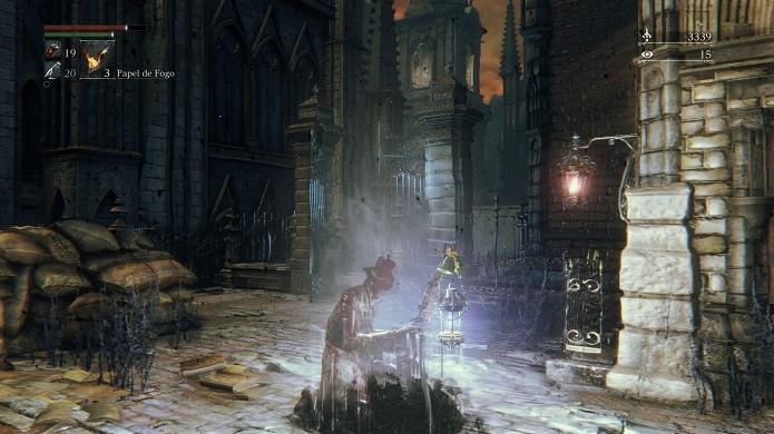 Bloodborne possibilita partida cooperativa entre até três jogadores  (Foto: Reprodução/Victor Teixeira)