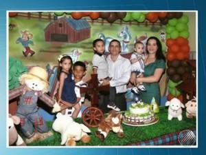 Família se envolveu em acidente na manhã de domingo  (Foto: Reprodução / TV Santa Cruz)