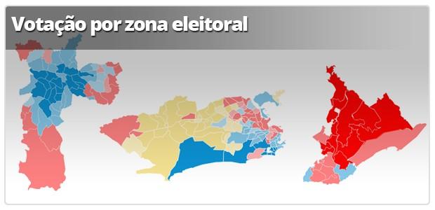 Infográfico: Apuração por zona eleitorai (Foto: Arte G1)