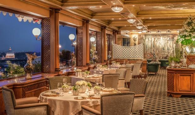 O La Pergola, o úncio restaurante romano com três estrelas no Guia Michelin (Foto: Divulgação)