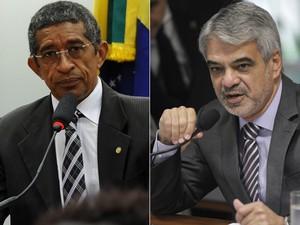 O deputado federal Vicentinho (PT-SP) e o senador Humberto Costa (PT-PE) (Foto: Gabriela Korossy/Câmara e José Cruz/Senado)