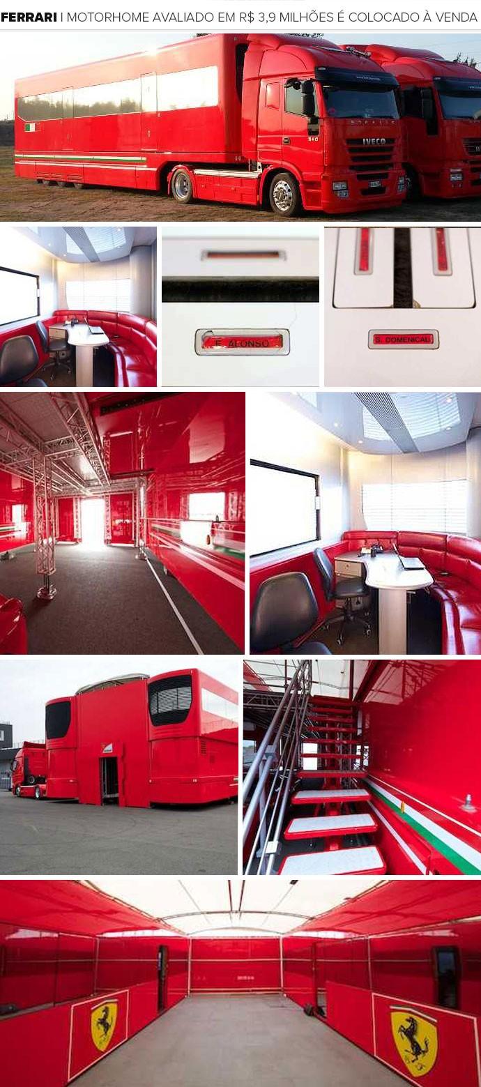 Mosaico - Ferrari Motor Home (Foto: Divulgação)