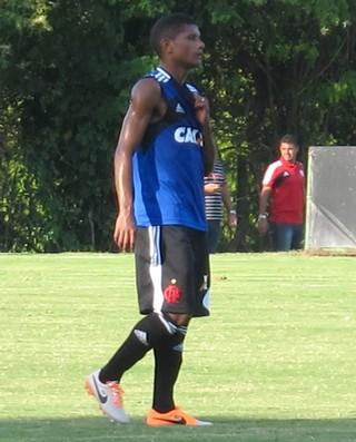 Marcio Araujo treino Flamengo (Foto: Thales Soares)