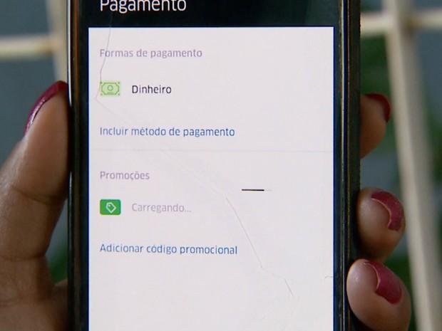 Usuário que optar pelo pagamento em dinheiro deverá informar o CPF, diz Uber (Foto: Reprodução/EPTV)