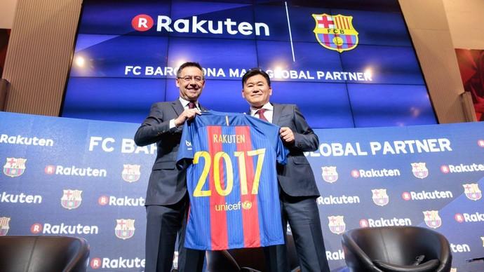 Barcelona patrocinador Rakuten (Foto: Divulgação/Site oficial do Barcelona)