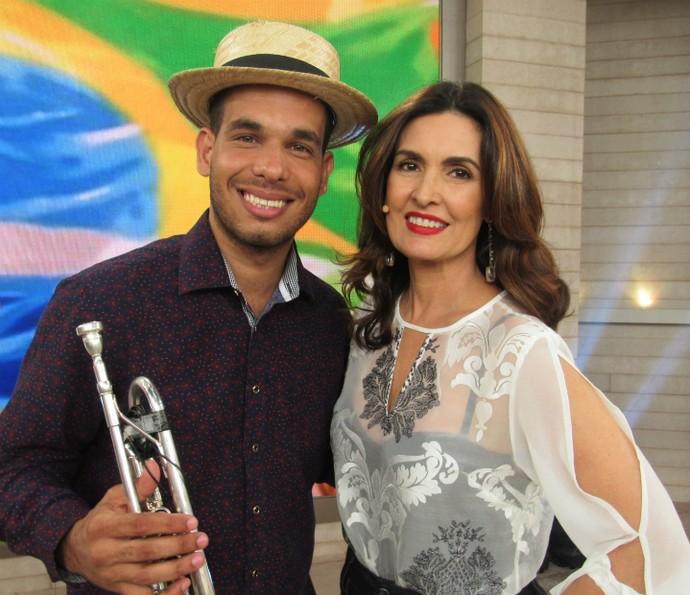 Samba é alegria e o 'Encontro' foi nesse clima =) (Foto: Renata Viot/Gshow)