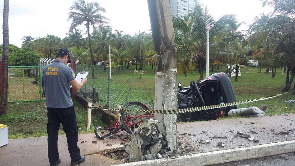 Perícia Criminal foi acionada para investigar como aconteceu o acidente (Foto: CPTran, Divulgação)