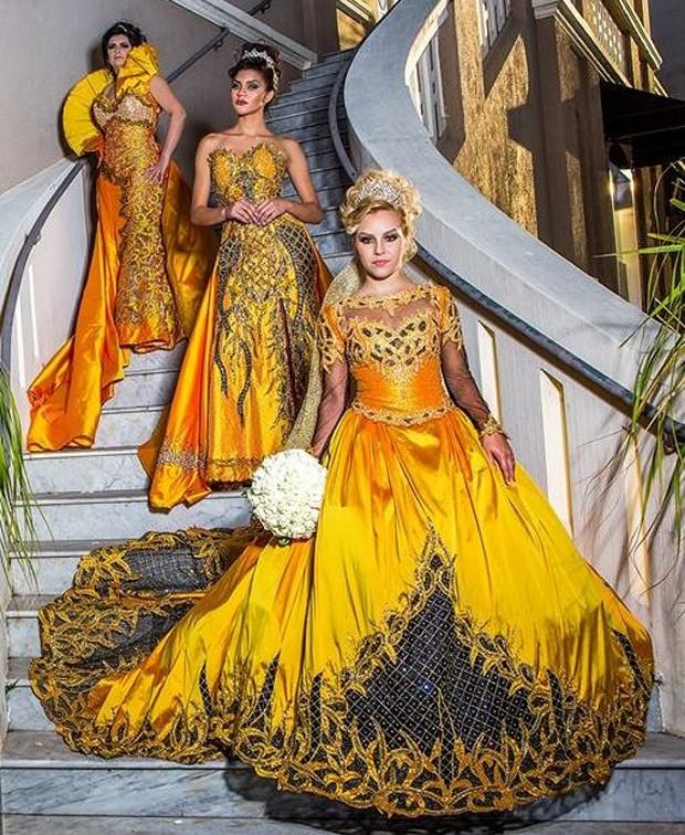 Vestidos do estilista Edson Eddel (Foto: Raul Portugal / Divulgação)