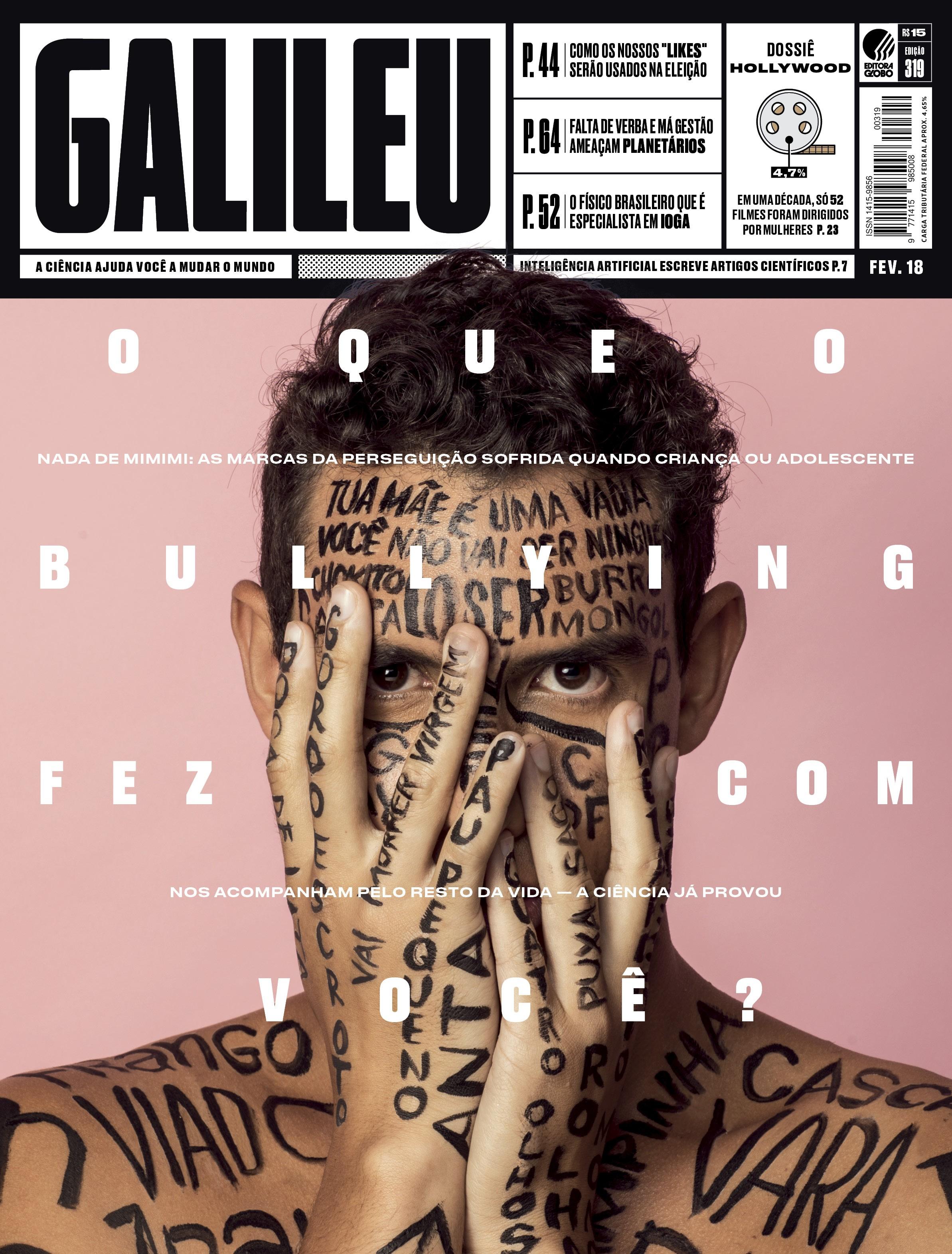 Capa da edição de fevereiro de 2018 da GALILEU (Foto: Foto Julia Rodrigues / Design Feu)