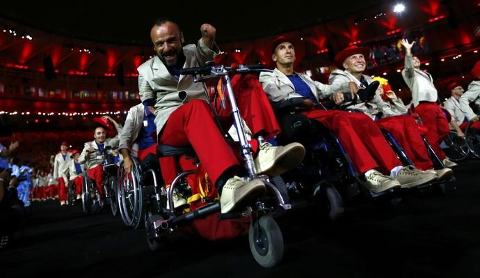 Cerimônia de abertura da Paralimpíada Rio 2016 - Espanha (Foto: Reuters)
