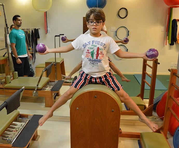 Xande é craque no pilates (Foto: Arquivo Pessoal)