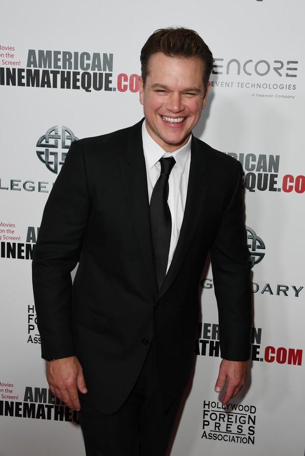 Matt Damon em premiação de cinema em Los Angeles, nos Estados Unidos (Foto: Mark Ralston/ AFP)