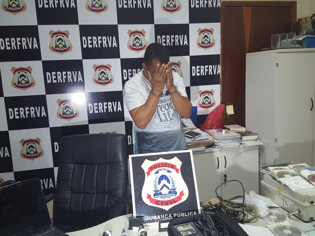 Suspeito de participar de quadrilha que roubava camionetes é preso  (Foto: Kristoferson Moreira/TV Anhanguera)