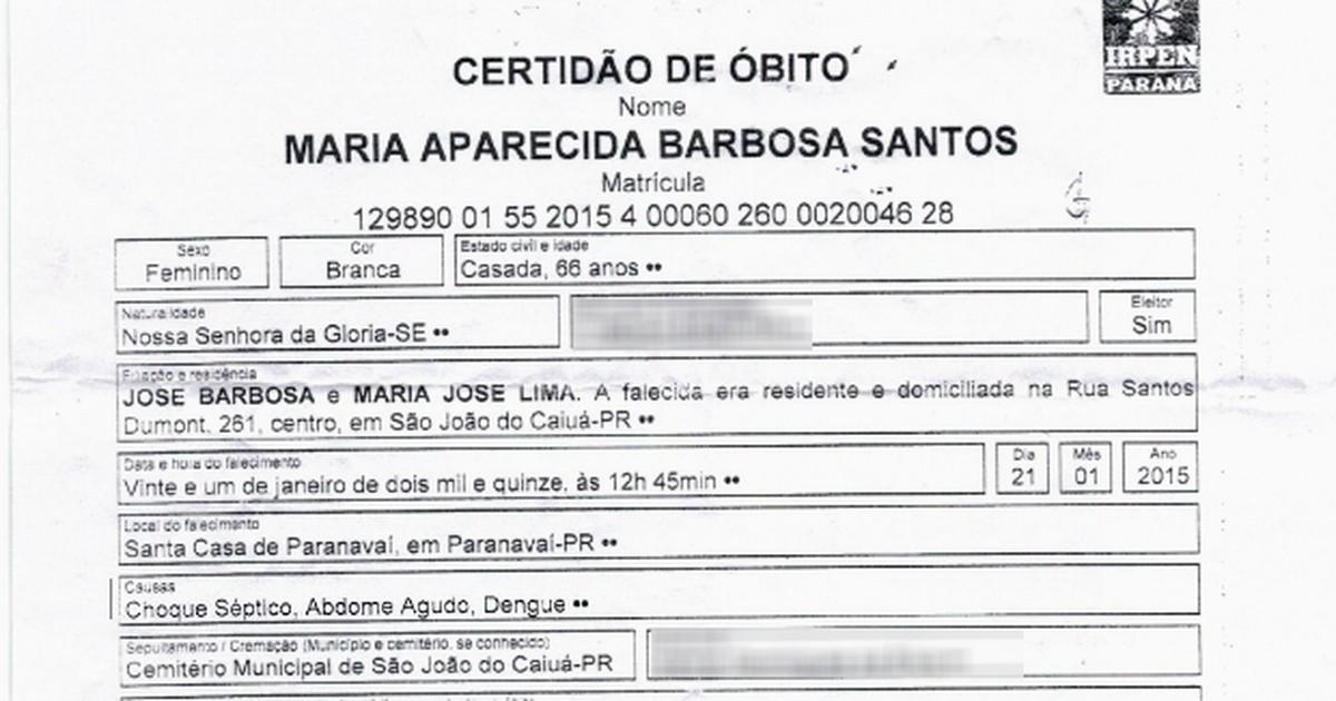 Idosa morre em hospital de Paranavaí após contrair o vírus da dengue - Globo.com