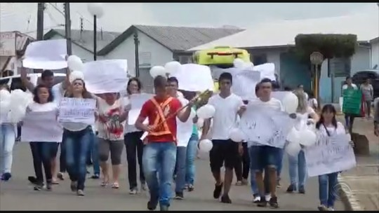 Moradores da Serra de SC protestam após homem atirar em ex-mulher